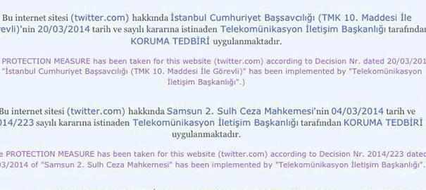 Twitter Erişime Kapandı