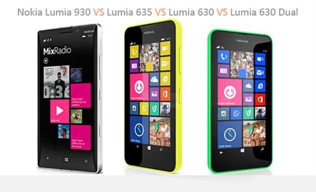 Lumia 930 ve Lumia 630'un Satış Fiyatı Belli Oldu