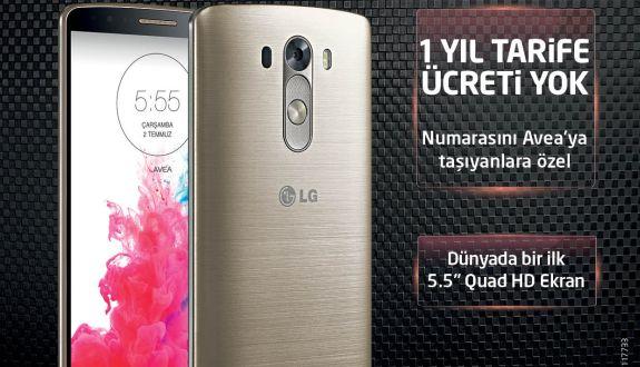 LG G3 Alanlara 1 Yıllık Faturası Avea'dan Hediye!