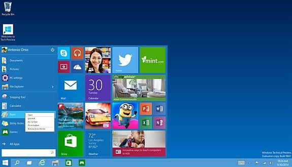 Microsoft'dan Büyük Sürpriz:  Windows 10 Tanıtıldı
