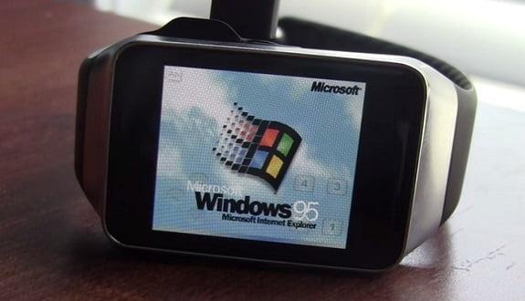 Bir Akıllı Saat'e Windows 95 Yüklenirse Ne Olur?