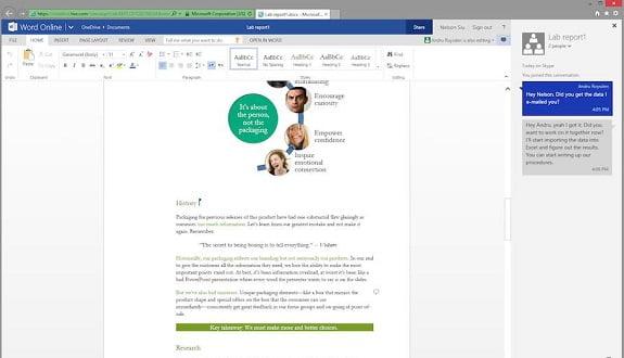 Word ve PowerPoint'ın Web Uygulamalarında Chat Özelliği