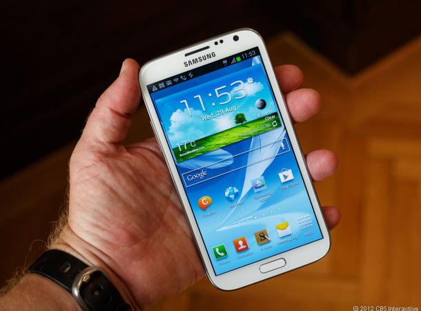 Samsung Galaxy Note 2'yi Şeker Teğet Geçecek