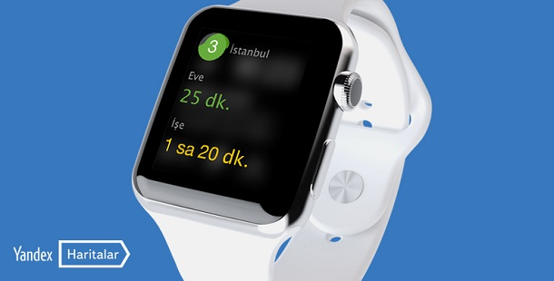 Yandex.Haritalar, Apple Watch ile artık kolunuzda