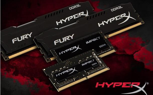 HyperX'ten yeni DDR3L ve DDR4 RAM seçenekleri