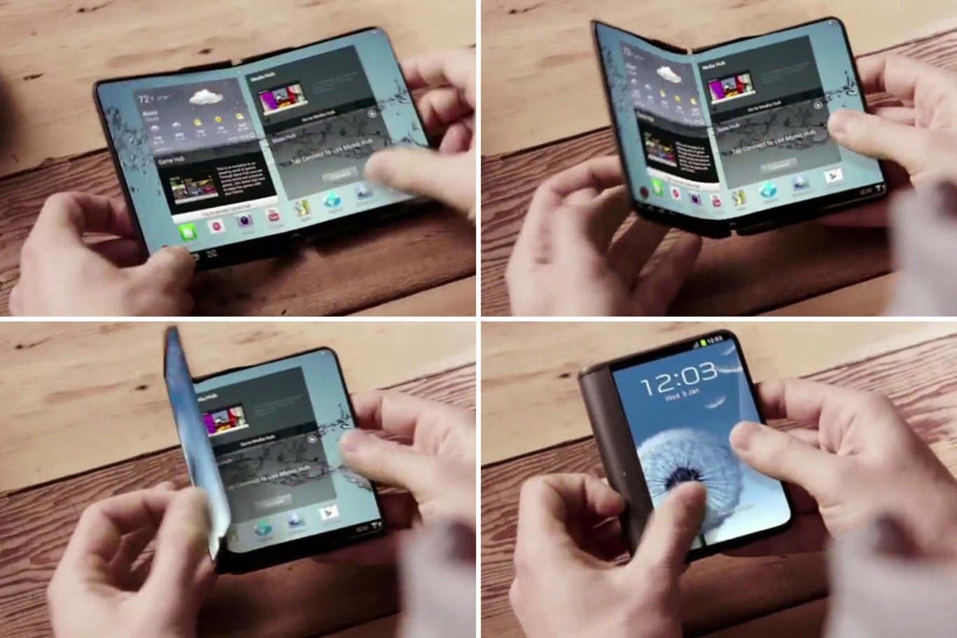 Samsung katlanabilir telefon mu yapıyor?