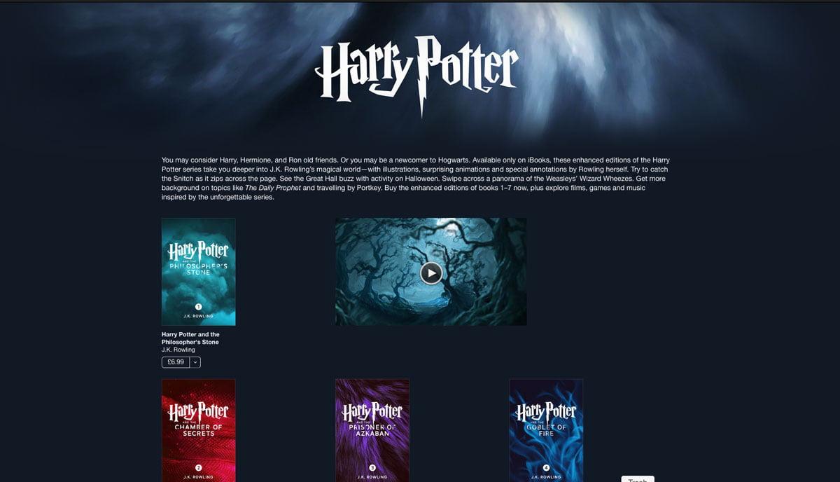 Harry Potter, iBooks'a geliyor!