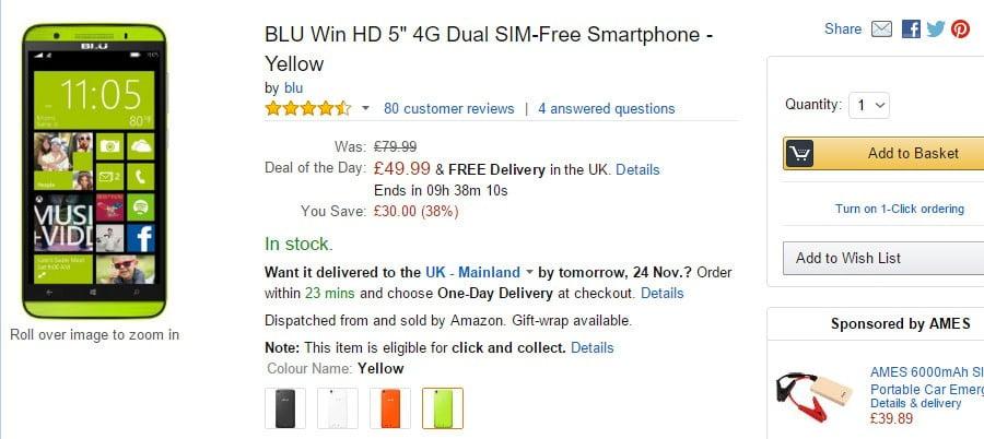 BLU'dan Windows 10'lu telefon geliyor!