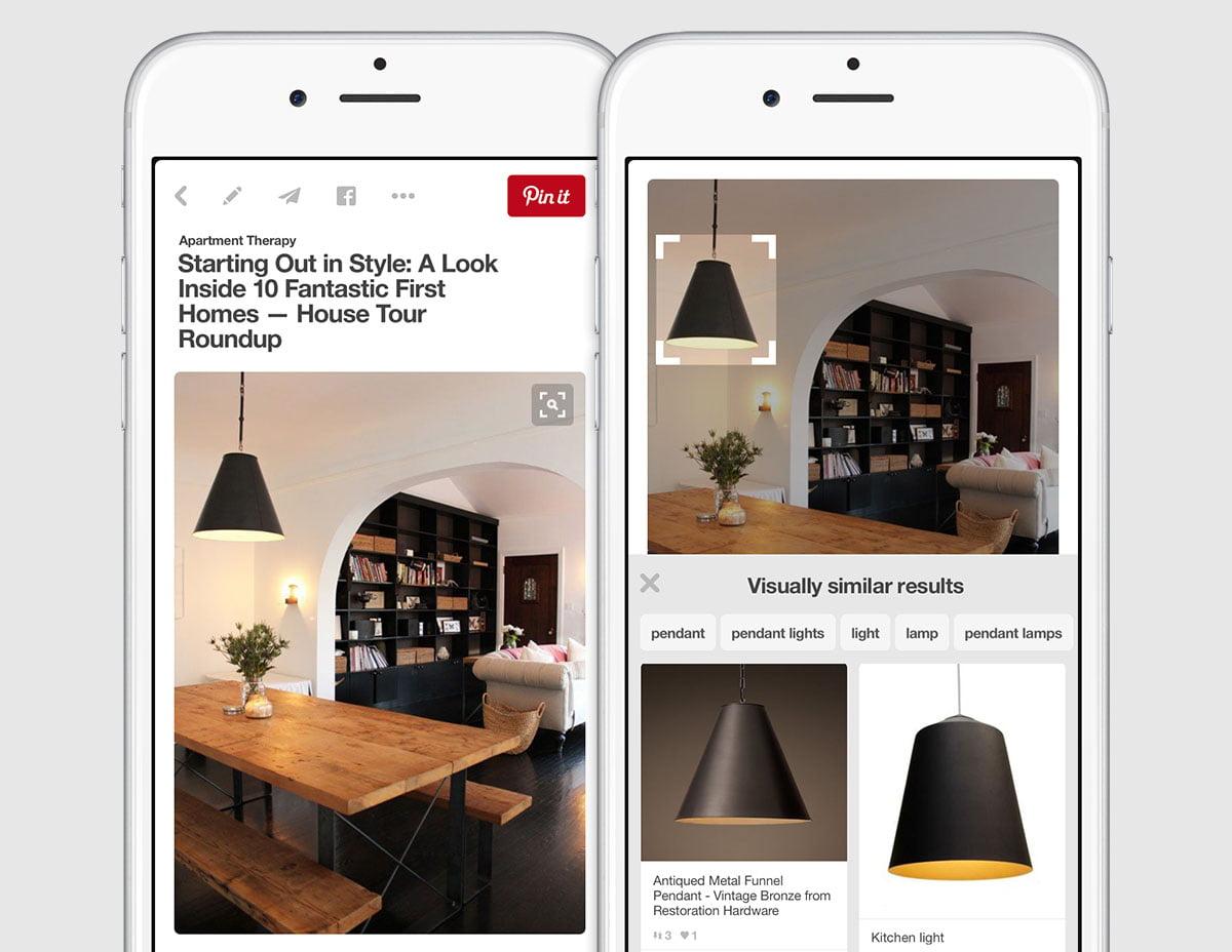 Pinterest ürünleri tanımaya başlıyor