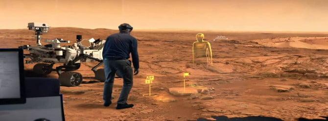 NASA ve Microsoft'tan Hololens işbirliği