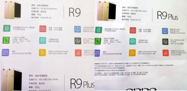 Oppo R9'un özellikleri ortaya çıktı!