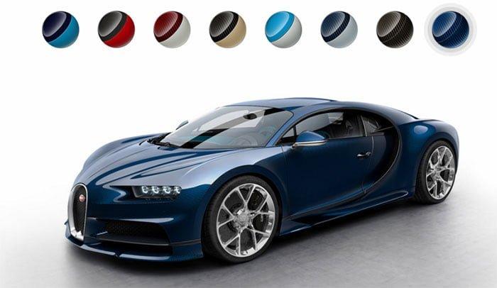 Bugatti Web Sitesine Renk Skalası Dahil Etti !