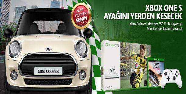 Xbox alışverişine Mini Cooper kazanma fırsatı