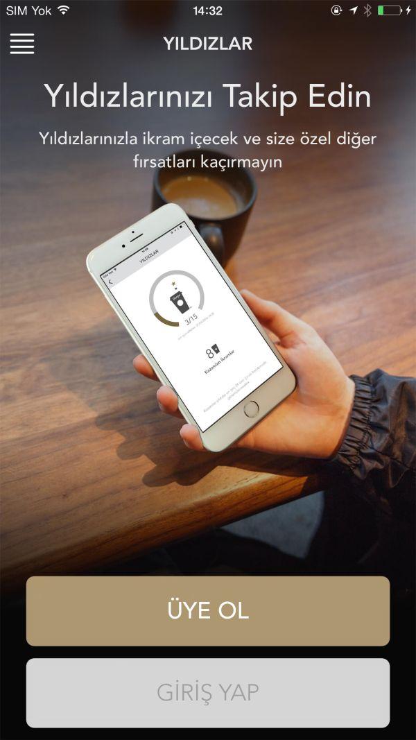 Starbucks Mobil Uygulaması Türkiye'de
