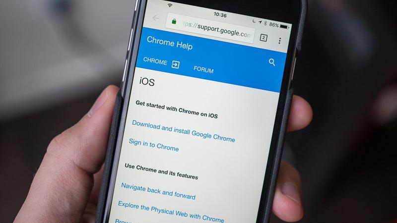 google chrome iOS sürümü açık kaynak