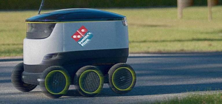 Avrupa'da pizzaları müşterilere robotlar teslim edecek