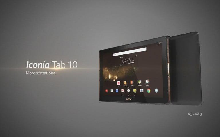Acer'dan ses sistemi gibi tablet! Iconia Tab 10!