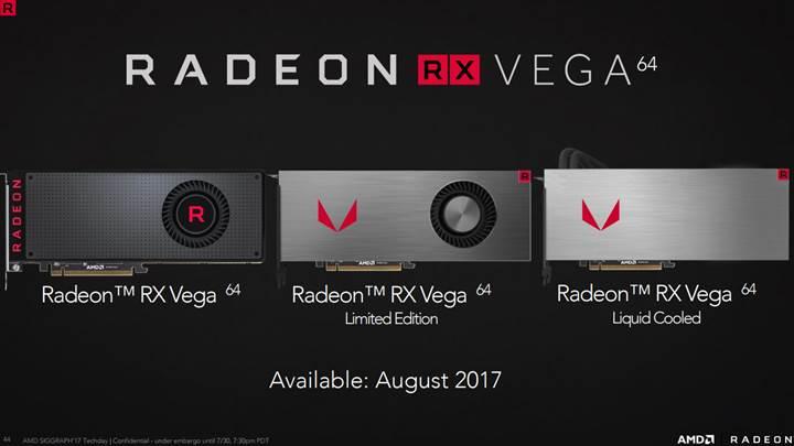 AMD Radeon RX Vega Ailesi Tanıtıldı