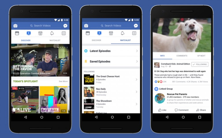 Facebook yeni platformunu duyurdu: Watch