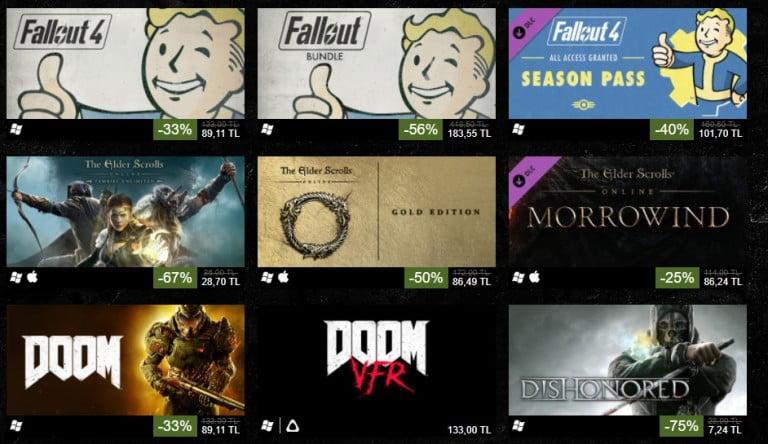 Fallout, Doom, The Elder Scrolls ve dahası için indirimler başladı