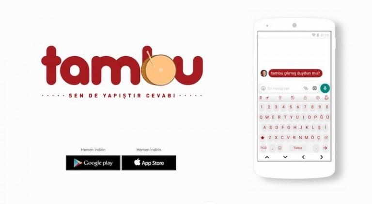 Milli duyguları kabartan dijital klavye; TAMBU!