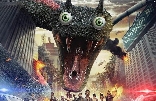 Böyle yılan filmi izlemediniz. Snake Outta Compton geliyor