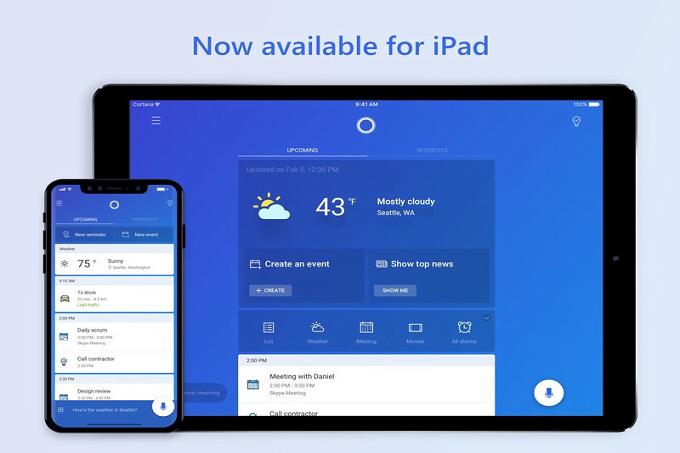 Cortana, şimdi de iPad için optimize edildi