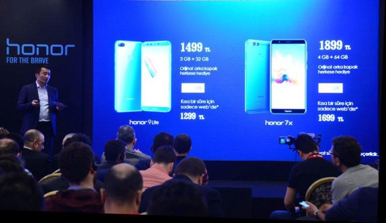 Honor Türkiye'de satışa sunacağı ilk telefonları Honor 7X ve Honor 9 Lite 'ı tanıttı