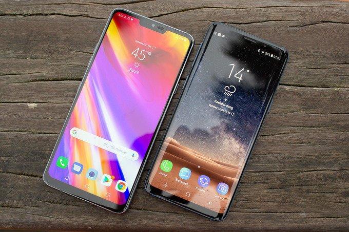 LG G7 ThinQ ile Galaxy S9 arayüz karşılaştırması