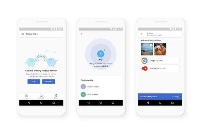 Google'dan AirDrop'a rakip geliyor