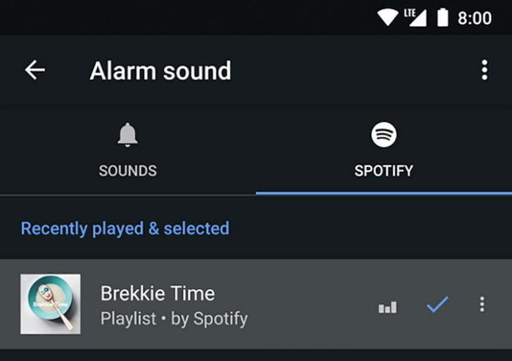 Google Clock'a Spotify'lı alarm özelliği!