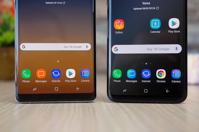 Galaxy Note 9 ve Galaxy S9+ karşılaştırması