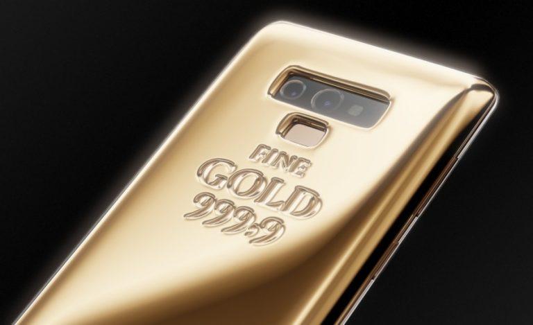 1 kg altın kaplamalı Note 9 satışa çıktı