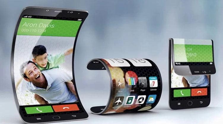 Katlanabilen ekranlı telefon