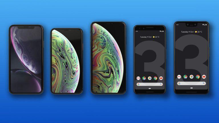 Google Pixel 3, Pixel 3 XL, iPhone Xr, Xs ve Xs Max karşılaştırması