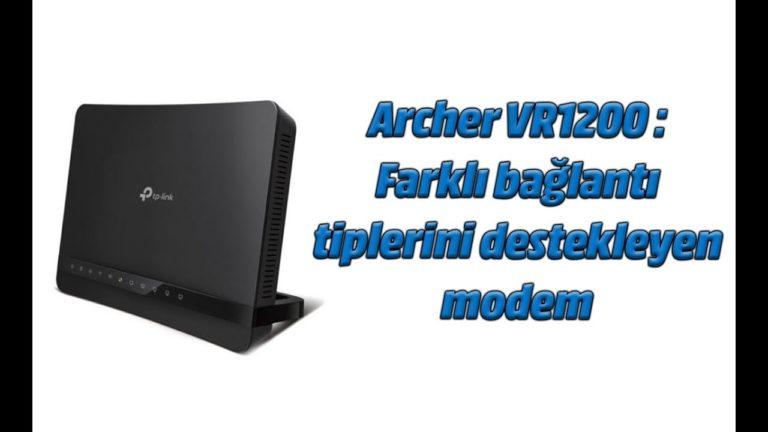 TP-Link Archer VR1200 inceleme