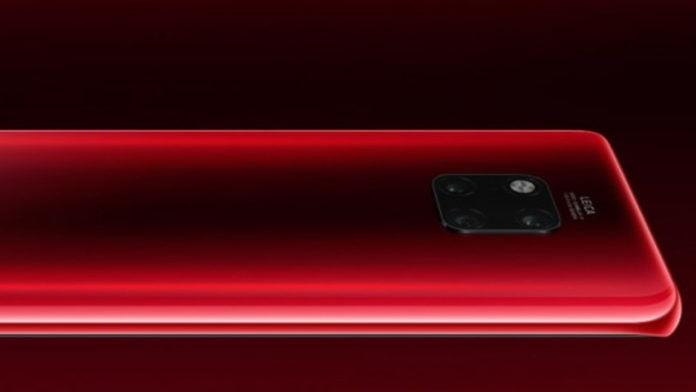 Kırmızı Huawei Mate 20 Pro