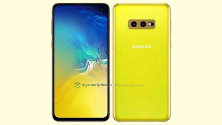 Sarı Galaxy S10 görüntülendi!