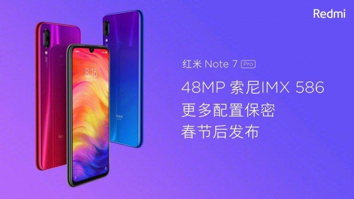 Xiaomi Redmi Note 7 Pro'nun özellikleri sızdırıldı