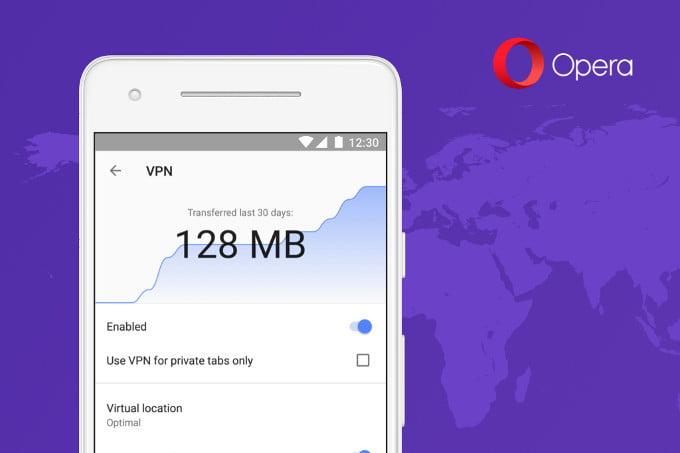 Opera VPN Android'e geliyor!