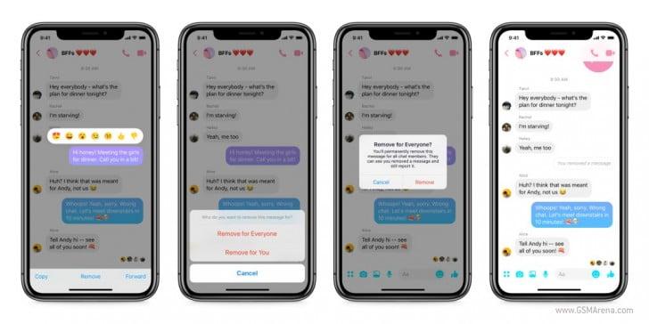Artık Messenger mesajlarını da gönderdikten sonra silebileceksiniz