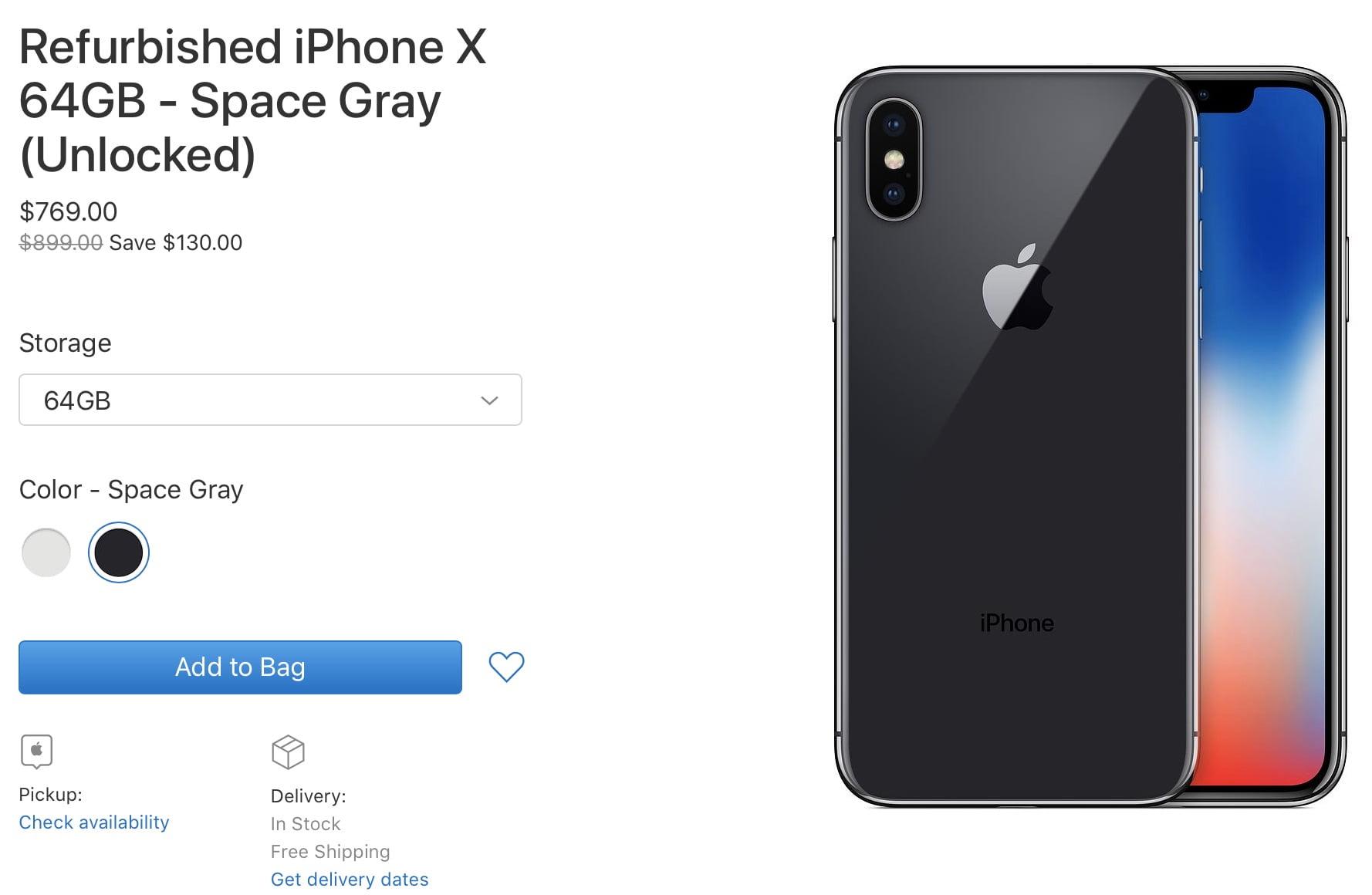yenilenmiş iPhone X
