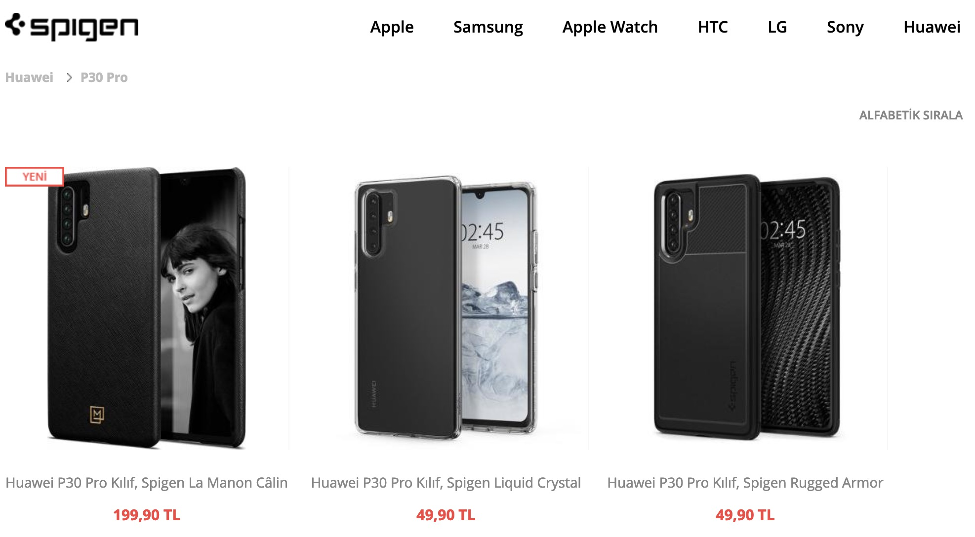 Huawei P30 Kılıfları