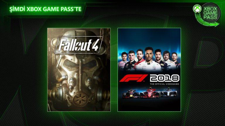 Xbox Game Pass'e Fallout 4 ve F1 2018 eklendi!