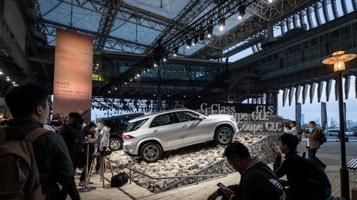 Mercedes-Benz yeni elektrikli kompakt SUV'sini Şanghay'da duyurdu!