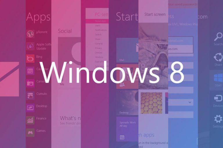 Windows 8 için üzen açıklama!