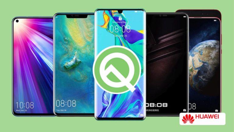 Android Q alacak Huawei modelleri! Tam liste!