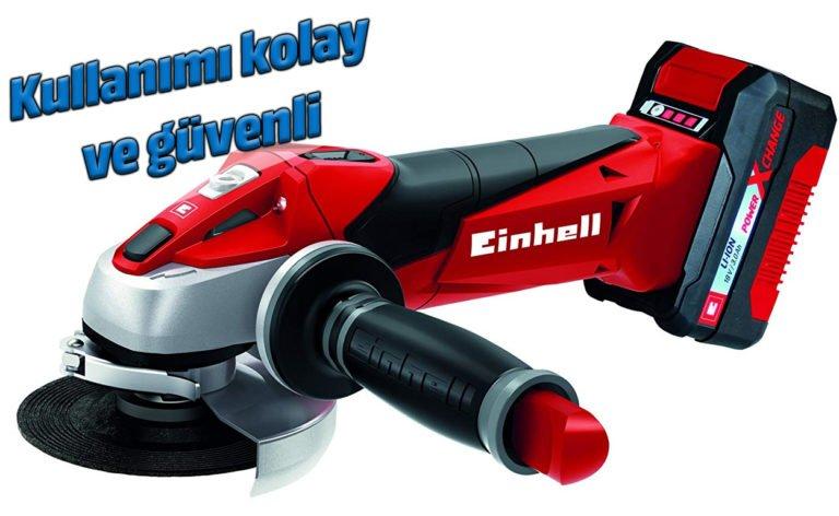 Einhell TE-AG 18/115 Li-Solo akülü avuç taşlama makinesi kullanıyoruz
