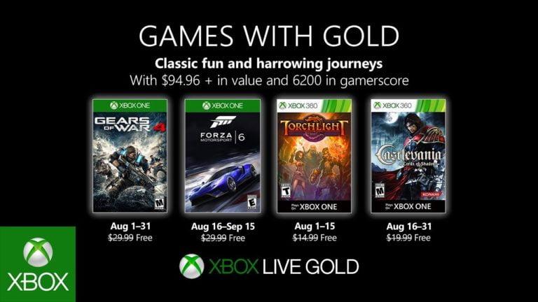 Xbox Live Gold Ağustos oyunları belli oldu