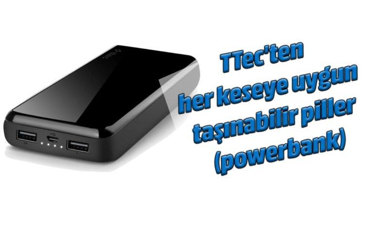 TTec'ten her keseye uygun taşınabilir şarj istasyonları (powerbank)